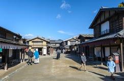 TÅ- ei Uzumasa Eigamura är den Kyoto studion parkerar Arkivfoton