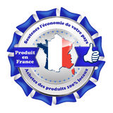 Tåla den nationella ekonomin - band, gjort i Frankrike Arkivbild