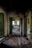 Tålmodigt rum - övergett sjukhus & vårdhem Arkivbild