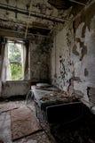 Tålmodigt rum - övergett sjukhus & vårdhem Royaltyfri Fotografi