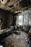 Tålmodigt rum - övergett sjukhus & vårdhem Arkivfoton