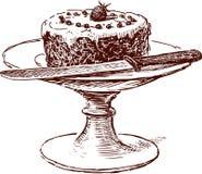Tårta i en vase stock illustrationer