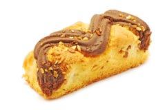 Tårta med choklad och vanilj Royaltyfria Bilder