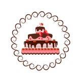 Tårta med jordgubbar Fotografering för Bildbyråer