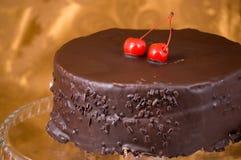 Tårta med körsbär Royaltyfri Bild