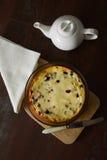 Tårta med keso fotografering för bildbyråer
