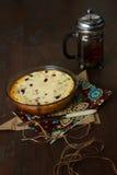 Tårta med keso arkivbild