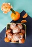 Tårta med mandarinen Arkivbilder