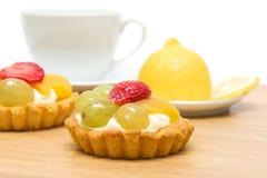 Tårta med nära övre för frukt Fotografering för Bildbyråer