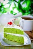 Tårta och kaffe Arkivbild