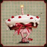Tårta på elefant och snail Arkivfoto