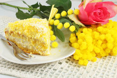 TårtaMimosa Arkivbild