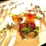 Tè & insalata di ghiaccio Immagini Stock