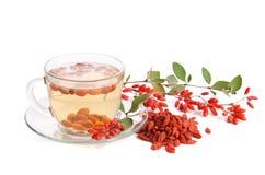 Tè antiossidante fresco di Goji immagine stock