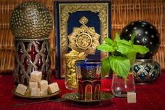 Tè arabo della menta Fotografia Stock