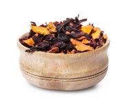 Tè asciutto della frutta Immagini Stock