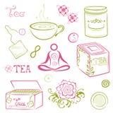 Tè, asiatico Illustrazione Vettoriale