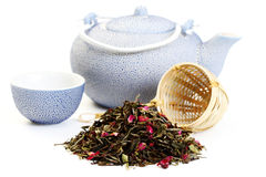 Tè bianco Fotografia Stock Libera da Diritti
