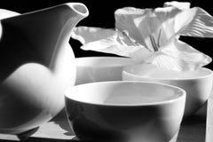 Tè in bianco e nero fotografia stock libera da diritti