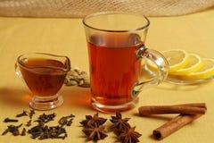 Tè in caffè Immagini Stock