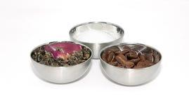 Tè, caffè e zucchero naturali Fotografia Stock