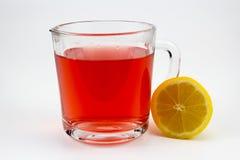 Tè caldo della frutta con le fette del limone Immagini Stock Libere da Diritti