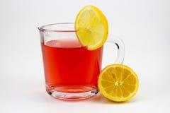 Tè caldo della frutta con le fette del limone Immagine Stock Libera da Diritti