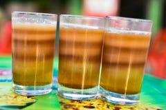 tè caldo di Multi-strati per bere Immagini Stock