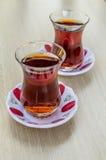 Tè caldo turco nazionale nel vetro Immagine Stock Libera da Diritti