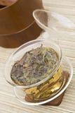 Tè cinese in Gaiwan fotografia stock