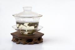 Tè cinese in Gaiwan fotografia stock libera da diritti