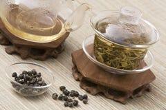 Tè cinese in Gaiwan immagine stock libera da diritti