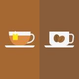 Tè con caffè Fotografie Stock
