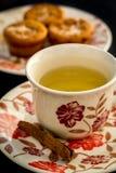 Tè con i muffin Immagine Stock