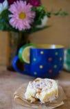Tè con il dolce Fotografia Stock Libera da Diritti