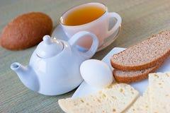 Tè con il formaggio delle pecore Fotografia Stock