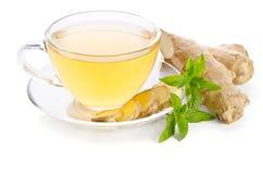 Tè con la radice dello zenzero Fotografia Stock