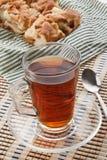 Tè con la torta di mele Fotografia Stock
