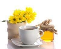 Tè con miele Fotografie Stock