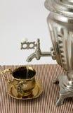 Tè da un samovar. Fotografie Stock Libere da Diritti