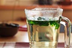 Tè dalle erbe fresche Immagine Stock