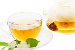 Tè del gelsomino Fotografia Stock