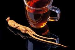 Tè del Ginseng fotografie stock