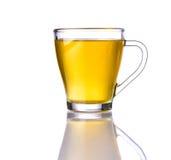 Tè del limone in tazza di vetro Fotografia Stock