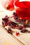 Tè del melograno. Tè rosso. Fotografie Stock