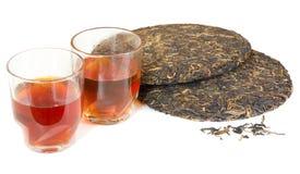 Tè del puer del cinese tradizionale Fotografie Stock