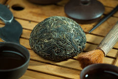 Tè del puer di shen di cinese fotografia stock