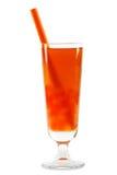 Tè della bolla con il percorso di residuo della potatura meccanica Fotografia Stock