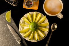 Tè della calce Fotografie Stock