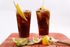 Tè della calce del limone Fotografia Stock
